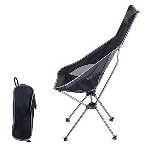 LIANGJING Chaise Pliante d'extérieur Chaise Dossier Ultra-légère Chaise de Plage Tabouret de pêche Chaise en Aluminium,Silver