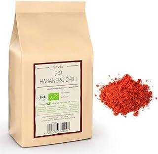250g BIO Habanero Chilipulver - intensiv feurig-fruchtiges Chili Pulver, ohne Zusätze - 120.000 Scoville - Chilli Pulver in umweltfreundlicher Verpackung