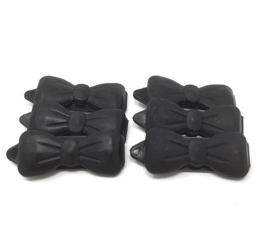 Camtiac Hunde-Haarspange Mini 6 Stück schwarz 18