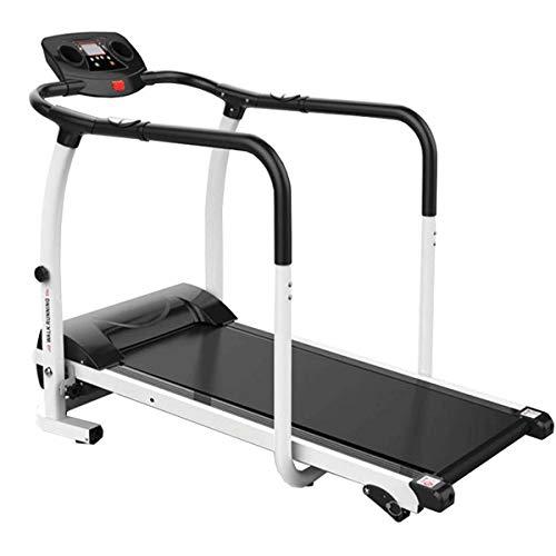 XJYA Laufen Joggen Fitness-Übung Laufband Cardio Elektrisches Laufen Maschinenlaufband für ältere Älteste Mit extra Langen Griffen Multifunktion Falten Stumm Laufmaschine
