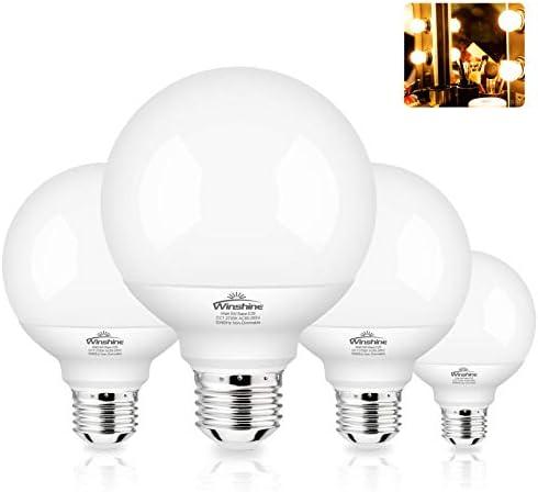 G25 LED Globe Light Bulbs for Bathroom Winshine 60 watt Equivalent Vanity Light Bulbs E26 Base product image