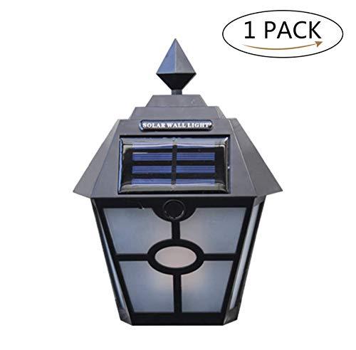 WangyongQI Simulatie Flame Hex Pane Wall Lamp Solar Light Garden Villa Light Waterproof Fence Stair Light