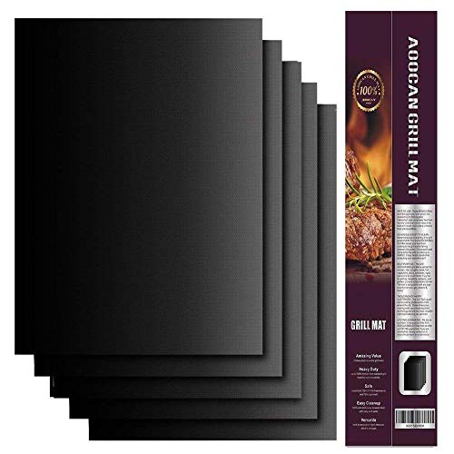 XZYP Best BBQ Grill Mat - Heavy Duty 600 Grad Non-Stick Mats (Set Von 3-5), Wiederverwendbare Und Leicht Zu Reinigen, Heavy-Duty, Grillen & Backen Matten Für Gas,5pacs