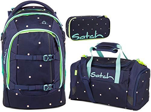 Satch Pack Pretty Confetti 3er Set Schulrucksack, Sporttasche & Schlamperbox