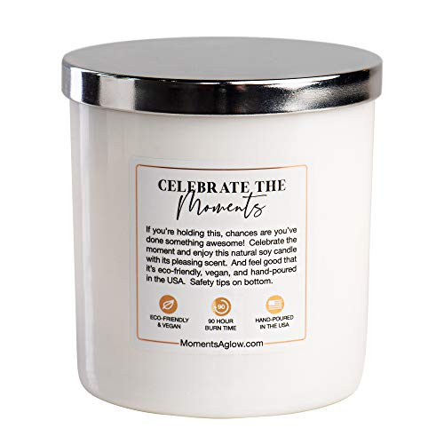 Inspirational Motivational Gifts for Women Men Employee Appreciation Congratulations Promotion Graduation Office Coworker New Job Gift. Premium Soy Candle, Lid + Box: Hazelnut Latte