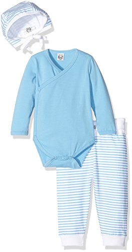 Care Conjunto de Pantalón, Body y Gorro para Bebés Azul (Alaskan Blue 733) 0 - 3 meses (Talla del...