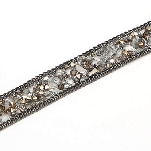 Socobeta Elegante único deslumbrante Rhinestone cinta tira de cristal Rhinestone cadena vestidos...