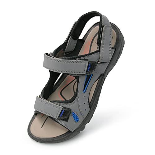 Jomix Sandalias de hombre y mujer, de verano, con suela antideslizante de goma, para casa, playa, zapatos de verano Gris Size: 41 EU