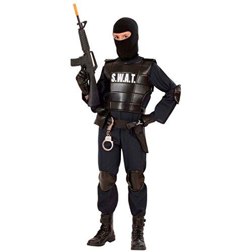 NET TOYS Costume pour Enfant SWAT Guerrier Combattant Commando spécial GIGN déguisement Enfant Carnaval Mardi Gras 158 cm