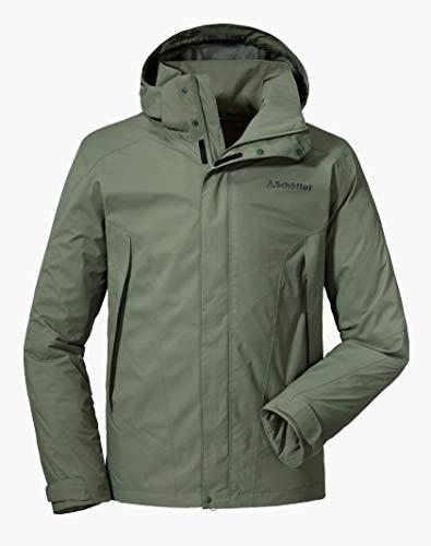 Schöffel Herren Jacket Easy M3 Wasser-und Winddichte Allwetterjacke für Männer, leichte und atmungsaktive Regenjacke, agave green, 52