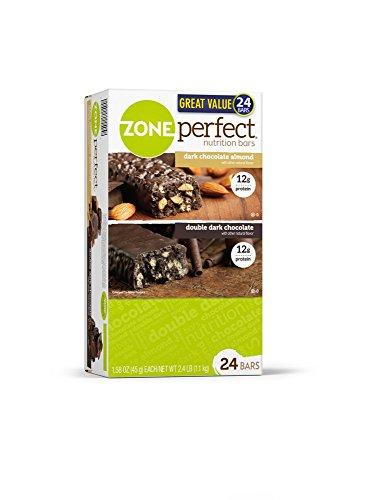 Zone Perfect Dark Chocolate 24 Great Tasting Protein Bars /1.58 Oz Net Wt 37.92 Oz
