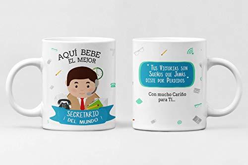 Taza Profesiones. Taza de cerámica Aqui Bebe el Mejor. Abogado, administrativo, Arquitecto, Bombero, Cantante, Chef, Contador, diseñador, Doctor, economista. (Secretaria)