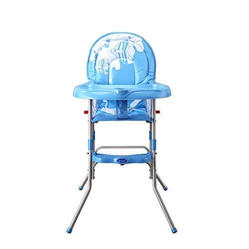HYLH Seggiolone Pieghevole per Bambini Portatile Sedile per Allattamento ad Alta Alimentazione Tavolo per Bambini Sedia Tavolo per sedili Cintura di Sicurezza Blu