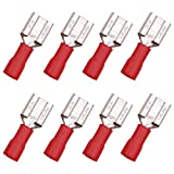 smseace 150 PCS Vinyl Insulated Red Terminal AWG 22-16 Wire Size Spade Electrical Crimp Connector Terminal FDD-R