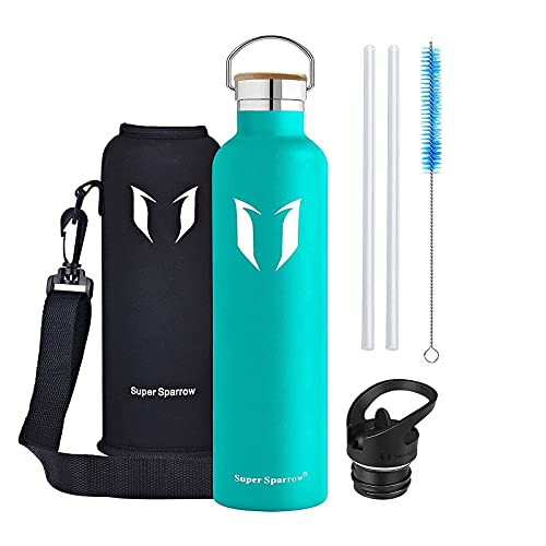 Super Sparrow Stainless Steel Vacuum Insulated Water Bottle - Double Wall...