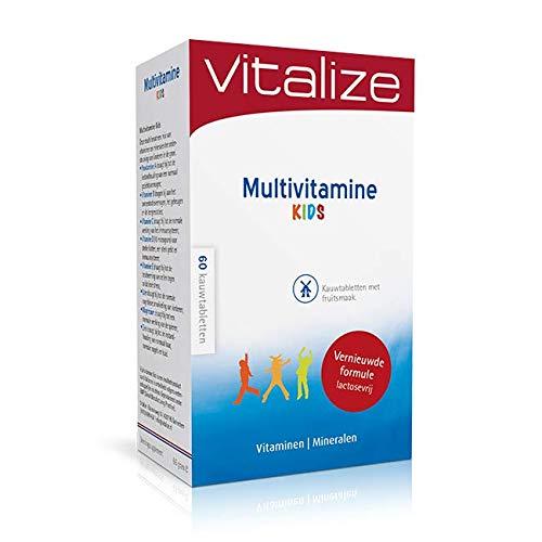 Vitalize Multivitamine Kids 60 kauwtabletten - Kauwtabletten met fruitsmaak (Lactosevrij!)