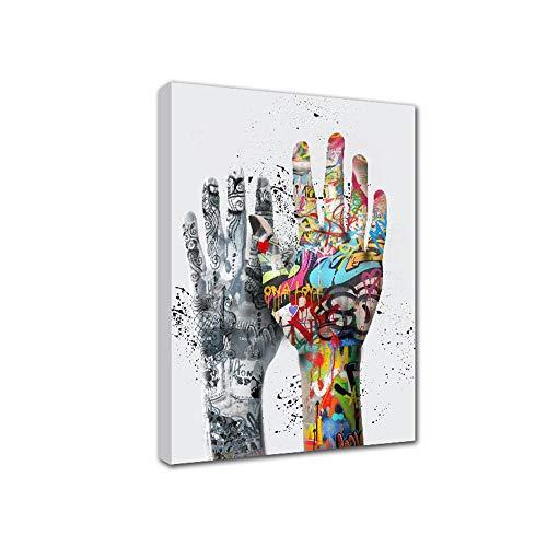 FajerminArt Lienzo Pinturas decorativas Arte moderno Realista Doodle Pintura a mano Pintada a mano Cuadro de pared Cuadro en lienzo Cuadro artístico Póster Cuadro de pared para sala de estar