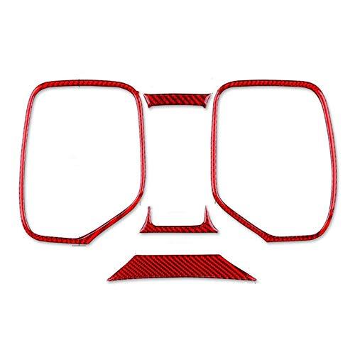 SHOUNAO 5pcs / Kit Velocímetro Marco Adhesivo Accesorios Decoración del Coche Reemplazo Rojo