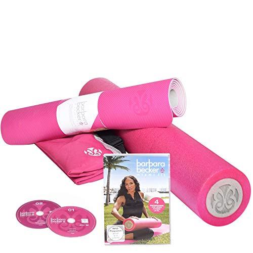 Barbara Becker Miami FIT Fitness-Programm mit DVD, Faszienrolle, Yogamatte & Tasche für Pilates, Yoga, Fitness