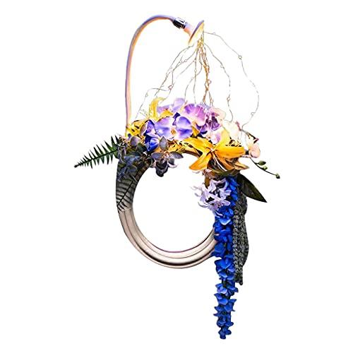 Nobranded Art Hose Shower Wreath Light, Garden Art Spring Garland, Decoración de Bienvenida en La Puerta Delantera para Decoración Exterior de La Lámpara del Cé - Colorido, Individual