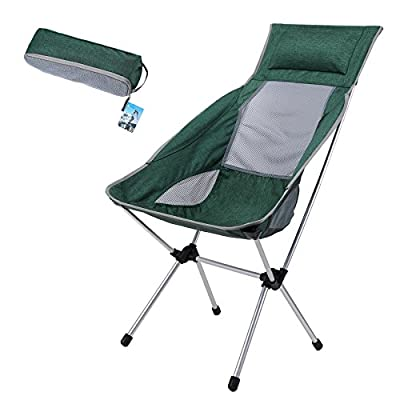 Yahill Ultralight Collapsible Camping Chair Folding Compact Portable with Carrying Bag for Indoor Furniture and Outdoor Beach Picnic Hiking Travel Hunting Fishing Director Working