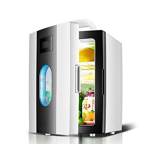HGFDSA Mini-kühlschrank, Elektrischer Kühler Und Wärmer (10 Liter / 11 Dosen) Für Schlafzimmer, Büro, Wohnheim, Auto - Ideal Für Getränke Bier Hautpflege Zu Hause Und Auf Reisen, Weiß