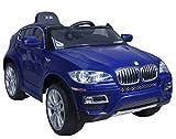 Coche eléctrico BMW X6 Azul con licencia oficial para niños