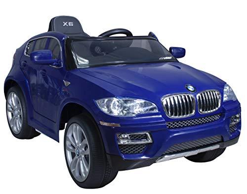 Coche eléctrico para niños 12V con mando - BMW X6 - Con...