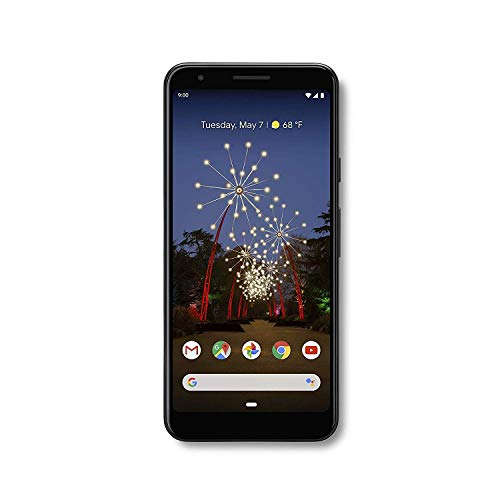 Google Pixel 3a G202G with 64GB Memory Cell Phone (Unlocked) - Just Blak (Renewed)