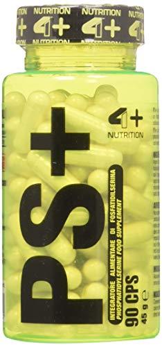 4+ NUTRITION - Ps+, Integratore Alimentare, con Fosfatidilserina, per la Memoria e la Concentrazione, 90 Compresse