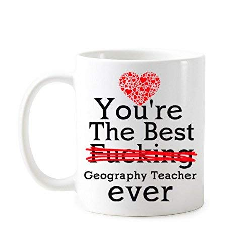 N\A Regalos para Profesores de geografía Eres el Mejor Profesor de geografía de Todos los Tiempos Taza de té Taza de cerámica de café con Leche