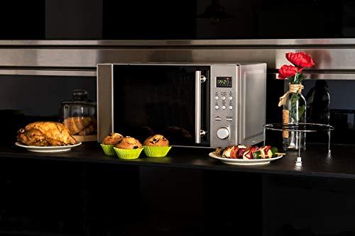 Cecotec Microondas con Grill Steel Grill. Capacidad de 20l, 700 W de Potencia,...