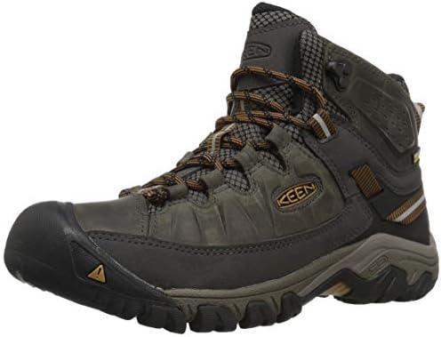 KEEN Men s Targhee III Mid Height Waterproof Hiking Boot Black Olive Golden Brown 12 2E Wide product image