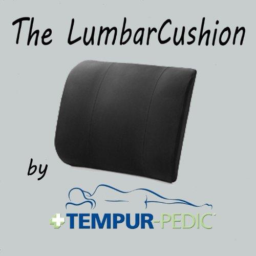TEMPUR-PEDIC Lumbar Support Cushion, Navy Blue, One Size