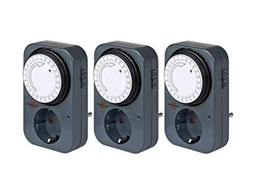 Brennenstuhl Zeitschaltuhr MZ 20, mechanische Timer-Steckdose (Tages-Zeitschaltuhr mit erhöhtem Berührungsschutz) grau (3)