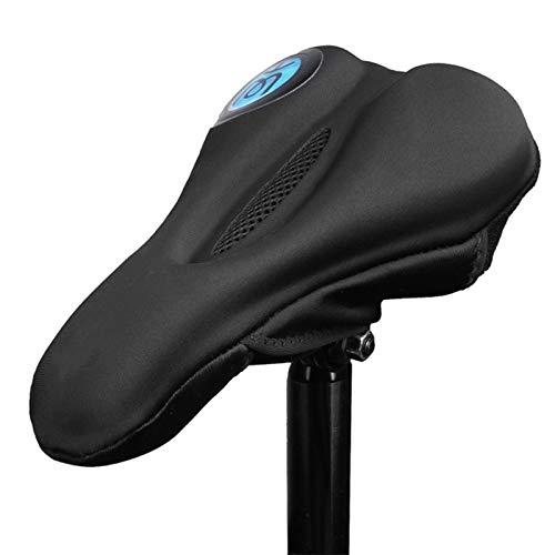 Funda De Cojín De Bicicleta Bicicleta cubierta de gel amortiguador del asiento cómodo cojín antideslizante ciclo del camino de la silla de montar en bicicleta cubierta accesorios de la bici Adecuado P