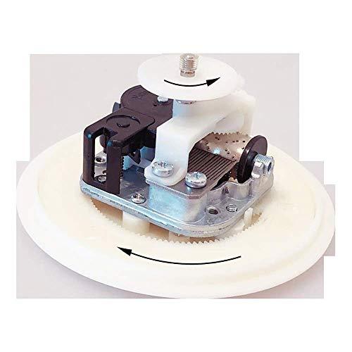 WOHAO Juguetes sonoros Mecanismo de Cajas de música de Bricolaje Caja de música con la rotación de la Placa y Base en dirección contraria Regalo Inusual Mecanismo Regalo