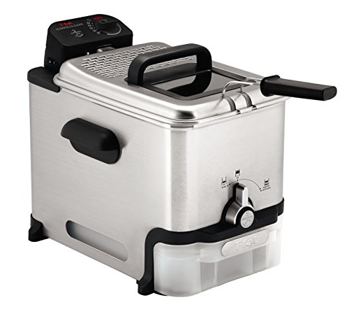 T-fal Deep Fryer with Basket, Stainless Steel, Easy to Clean Deep Fryer, Oil Filtration, 2.6-Pound,...