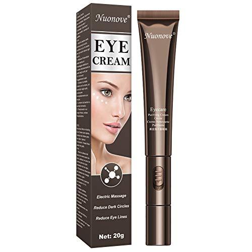 Antialterung Augencreme, Tränensäcke Entfernen, Augencreme, Eye Cream, Elektrische Massage Augencreme Reduzieren Sie dunkle Kreise, Schwellungen und Fältchen, Schnell absorbierendes Für Massagen 20g