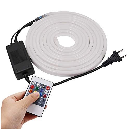 XUNATA 15 metros Tira de neón LED RGB flexible, 220V SMD 2835...