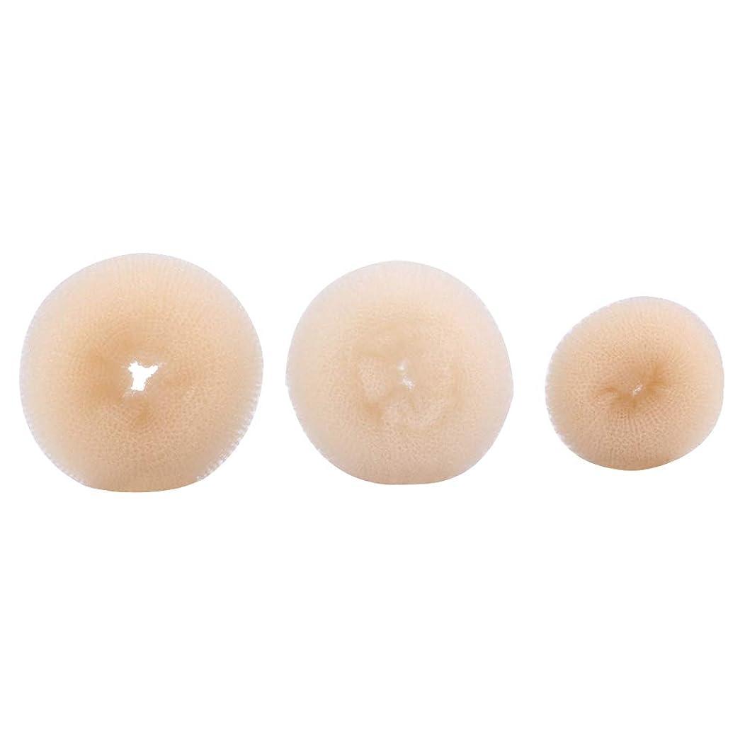 栄光繁殖プーノLURROSE 3ピースヘアドーナツパンメーカーインスタントヘアバンメーカーキット用女の子女性
