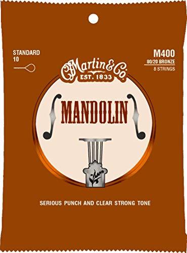 Martin M400 - Juego de cuerdas para mandolina de bronce.010-
