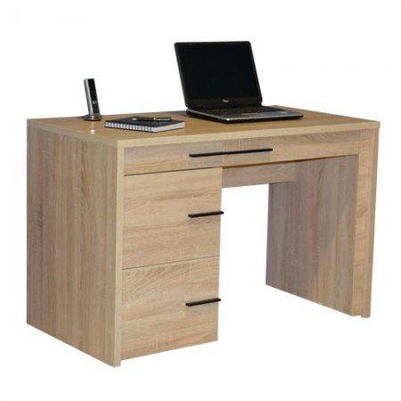 Jahnke Laptop-Tisch, E1-Spanplatten, melaminharzbeschichtet, Sanremo Eiche dunkel-nb, 115 x 60 x 76 cm