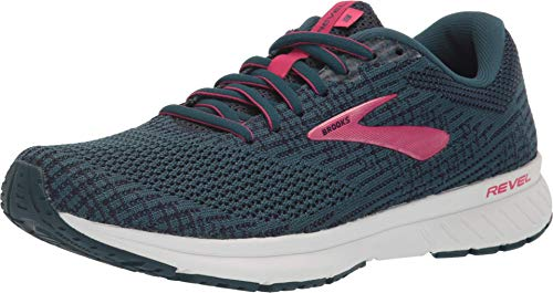Brooks Womens Revel 3 Running Shoe - Blue/Navy/Beetroot - B - 8.0