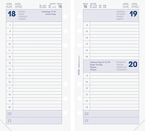 BRUNNEN 1074902002 Tageskalendarium, Zeitplansysteme, 2022, 1 Seite = 1 Tag, Sa. + So. auf einer Seite, Blattgröße 9,3 x 17,2 cm