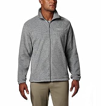 Columbia Men s Standard Steens Mountain 2.0 Full Zip Fleece Jacket Light Grey Heather Large