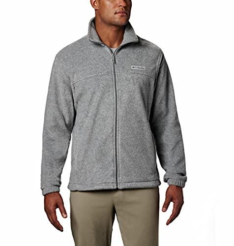 Columbia Men s Standard Steens Mountain 2.0 Full Zip Fleece Jacket, Light Grey Heather, Small