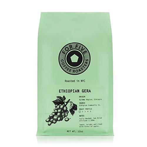 For Five Coffee Roasters - Roasted In NYC - Ethiopian Gera Light Roast (Origin: Djimma Region, Ethiopa), Whole Bean 12 oz