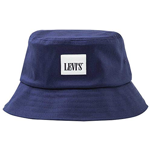 Levi's LEVIS FOOTWEAR AND ACCESSORIES Unisex Serif Bucket Hat Ohrenschützer, Marine,...
