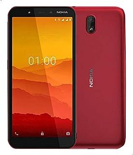 موبايل نوكيا C1 بشريحتين اتصال، 5.45 بوصة، 16 جيجابايت, ذاكرة رام1 جيجابايت، 3G - احمر